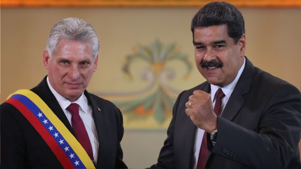 Diaz Canel y Nicolás Maduro