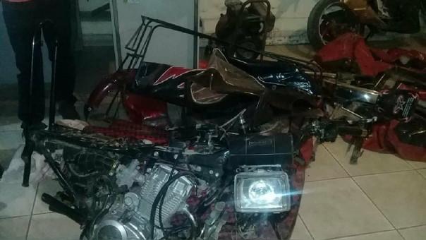 Mototaxi desmantelada