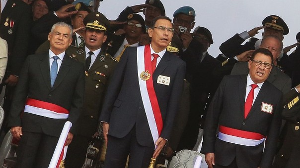 Vizcarra participó este jueves en la ceremonia por la Jura de la Bandera. Horas más tarde, cuatro policías fueron asesinados en Huancavelica.
