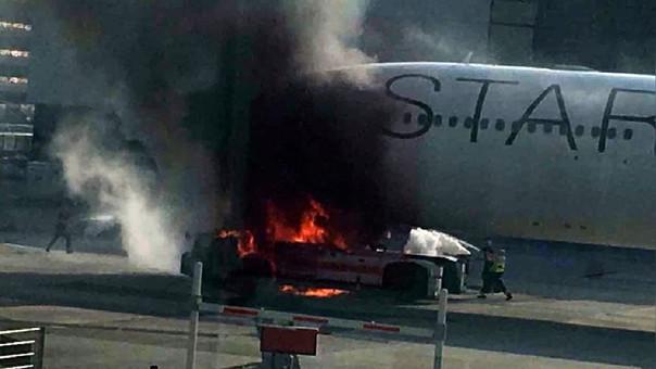 Incendio Frankfurt