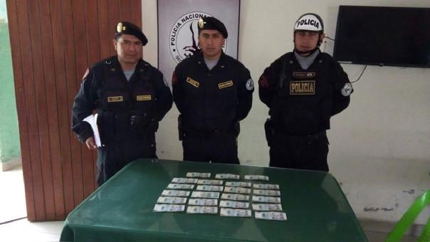 Policía muestra dinero hallado y devuelto