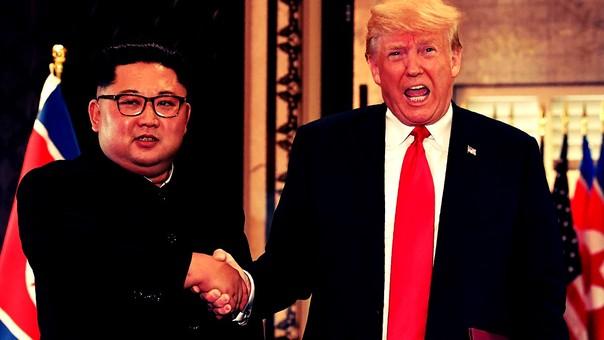 La histórica reunión entre Kim Jong-un y Donald Trump en Singapur.