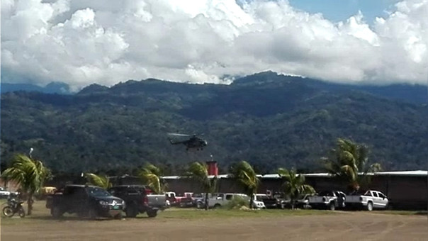 El Comando Especial del Vraem dispuso el despliegue de helicópteros y personal militar con el fin de ubicar a los terroristas.