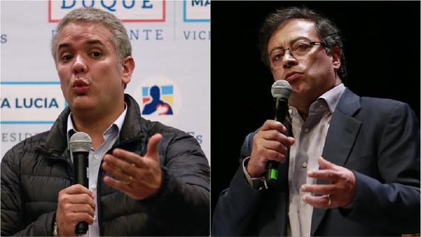 Iván Duque y Gustavo Petro se enfrentarán en la segunda vuelta, que se celebrará el 17 de junio.