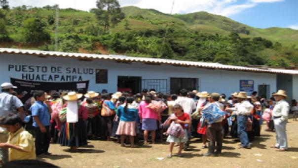 Puesto de salud de la zona andina sin medicamentos