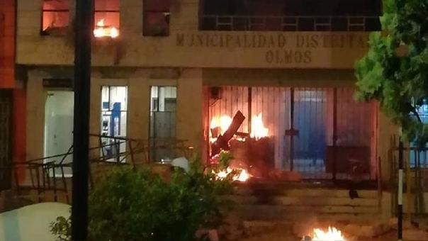 Incendian municipio de Olmos