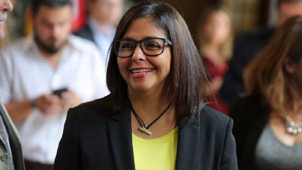 Delcy Rodríguez también se desempeñó como ministra de Relaciones Exteriores de Venezuela.