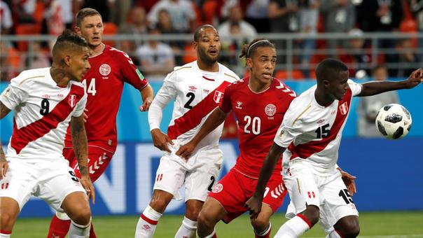 El primer partido de la selección peruana contra su similar danesa logró picos de 61.0 durante la transmisión.