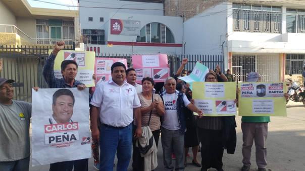Candidato de Pomalca, Carlos Peña