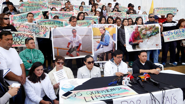 FILES-ECUADOR-COLOMBIA-KIDNAPPING-MEDIA-DEMO