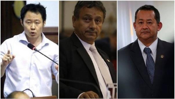Kenji Fujimori, Guillermo Bocangelk y Bienvenido Ramírez