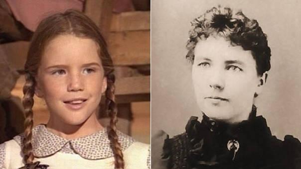 Melissa Gilbert intrepretando a Laura Ingalls en 'La Familia Ingalls' (izquierda) junto a una fotografía de la verdadera Laura Ingalls.
