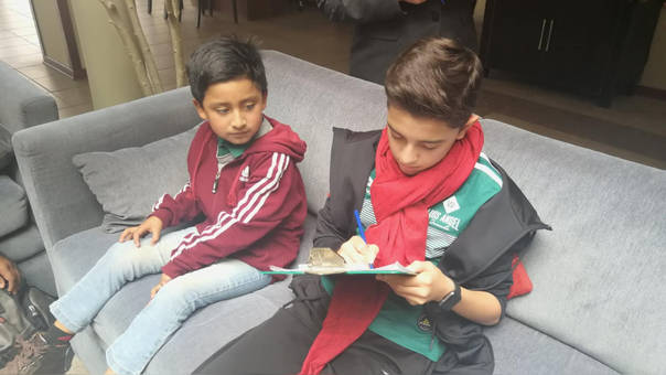 Luís Angel Jaramillo y Dilan Valencia en Cusco Coco