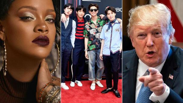 Rihanna, la banda coreana BTS