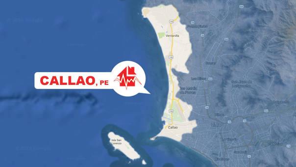Sismo registrado en el Callao.