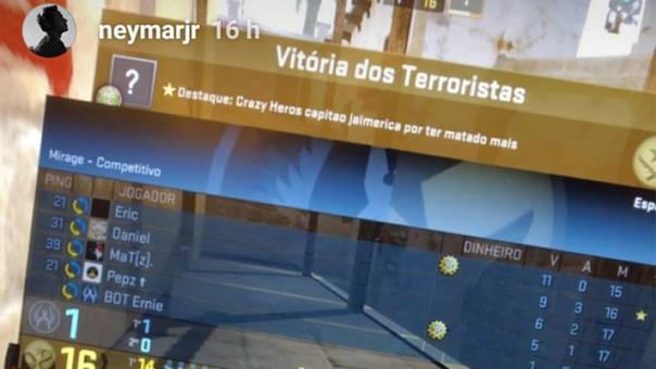 Neymar jugando Counter Strike