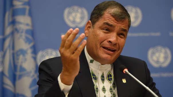 Rafael Correa fue presidente de Ecuador entre 2007 y 2017.