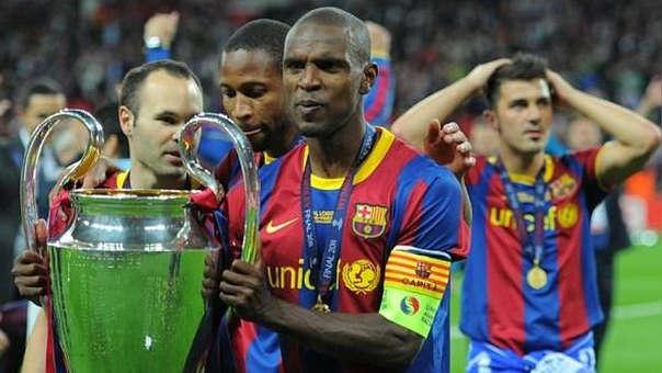 Eric Abidal ganó la Champions League con el Barcelona en el 2009 y el 2011, cuando ya había sido diagnosticado con cáncer.
