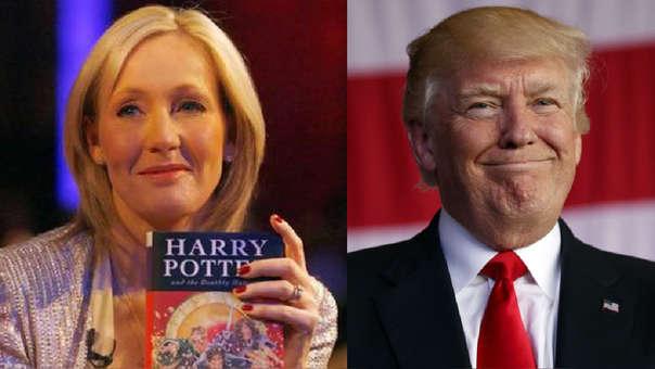 J.K. Rowling se burló de Donald Trump.