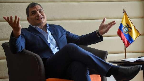 El expresidente ecuatoriano Rafael Correa durante una entrevista en Colombia en septiembre del año pasado.