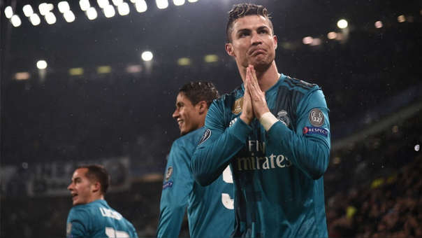 Cristiano Ronaldo tras marcarle un gol a la Juventus con el Real Madrid.