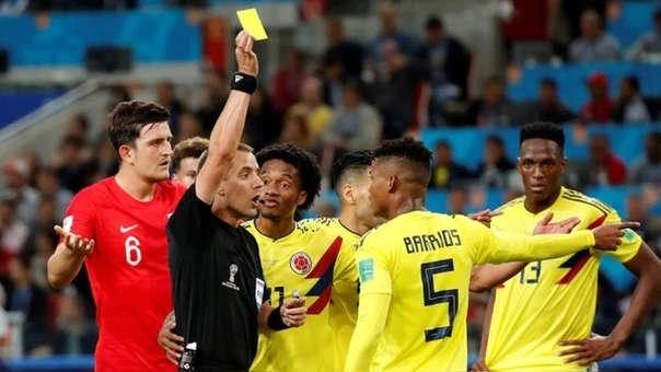 Mark Geiner fue duramente criticado por su actuación en el partido entre Inglaterra y Colombia.
