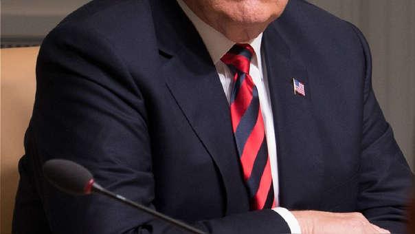 Las corbatas se han convertido en una prensa inseparable al terno y la camisa en reuniones y actividades formales. En la foto, una corbata usada por el presidente de los Estados Unidos, Donald Trump.
