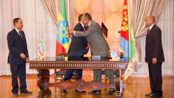 Issaias Afeworki y Abiy Ahmed