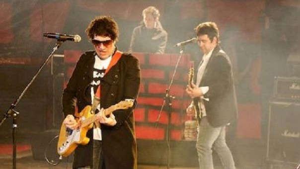 'Pity' Álvarez (izquierda) durante un concierto en Argentina.