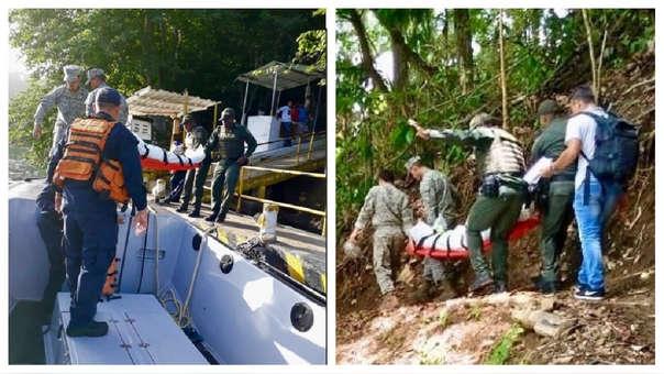 Rescate de los inmigrantes por parte de la Armada de Colombia.