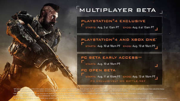 Call of Duty Black Ops 4 anuncia su beta multijugador para agosto
