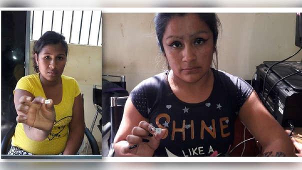 Mujeres intervenidas por intentar ingresar  chips al penal de Chiclayo