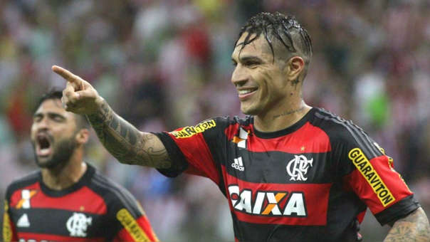 Paolo Guerrero puede jugar por el Flamengo, equipo al que pertenece desde el 2015.
