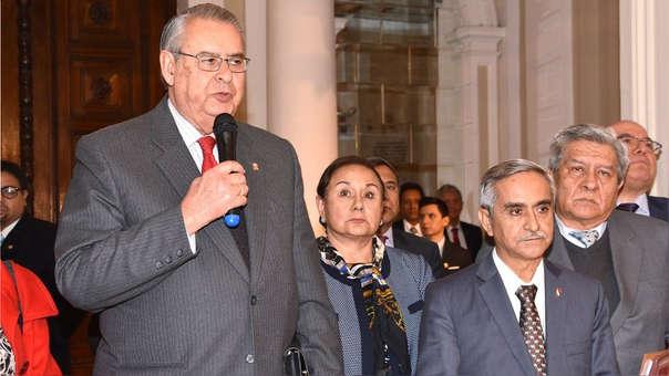 Allan Wagner dio declaraciones tras su reunión con el presidente del Poder Judicial.