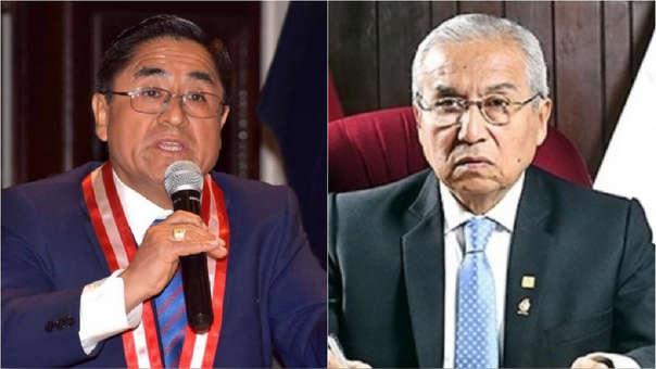 Juez César Hinostroza y fiscal de la Nación electo Pedro Chavarry.