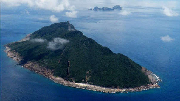 Vista aérea de parte de las islas.