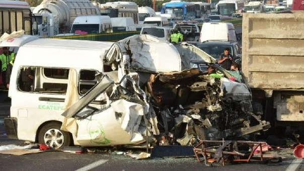 12 muertos por aparatoso accidente en la México-Pachuca