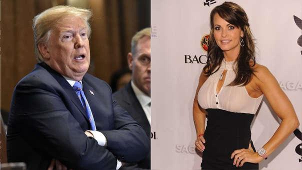 Donald Trump y Karen McDougal, la modelo con la que es vinculado.