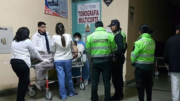 Hombre herido en persecución policial en Arequipa
