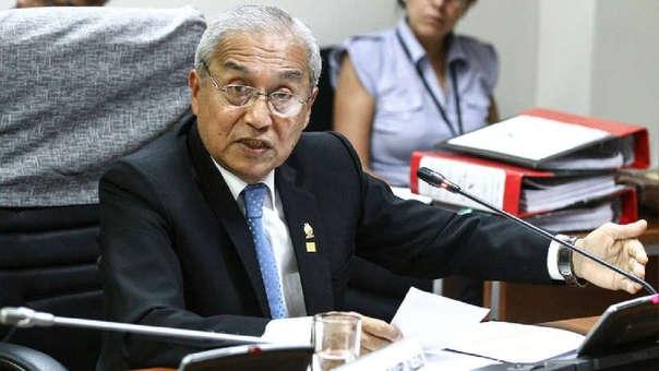 Pedro Chávarry en una comisión del Congreso.