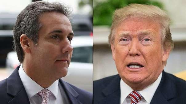 Michael Cohen (izquierda) y el presidente de los Estados Unidos, Donald Trump (derecha).