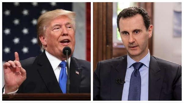 Donald Trump y Bashar al Assad