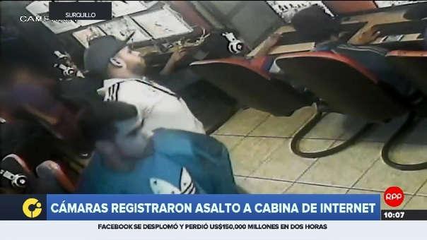 Las cámaras captaron el momento del robo.