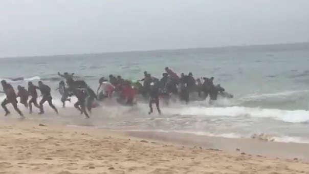 Llegada de migrantes