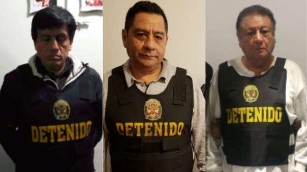 Antonio Camayo, Jose Luis Cavassa y Mario Mendoza entre los detenidos.