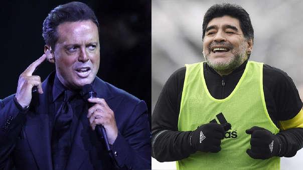 Diego Armando Maradona y Luis Miguel se conocieron en 1986.