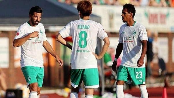 Claudio Pizarro llegó al Werder Bremen por primera vez en 1999.