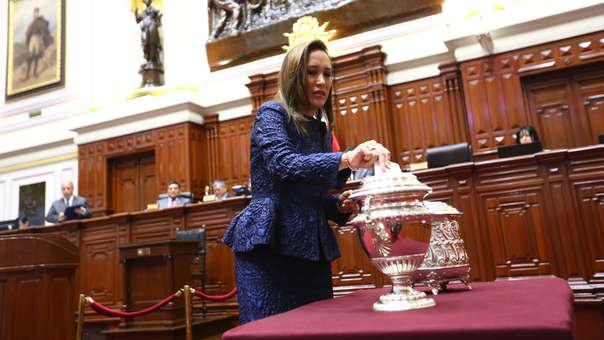 Paloma Noceda votó en blanco en la última elección para la Mesa Directiva del Congreso.