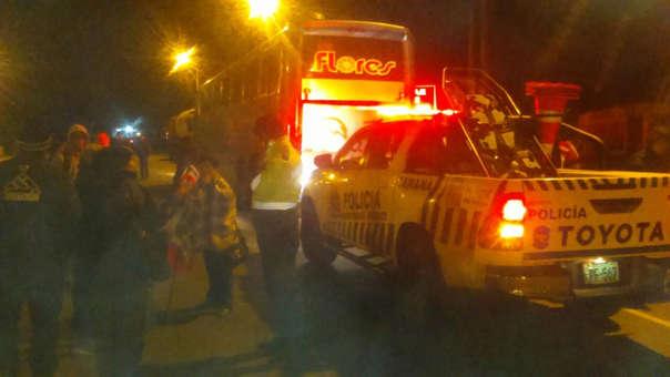 Intervienen a conductor de bus en estado de ebreidad