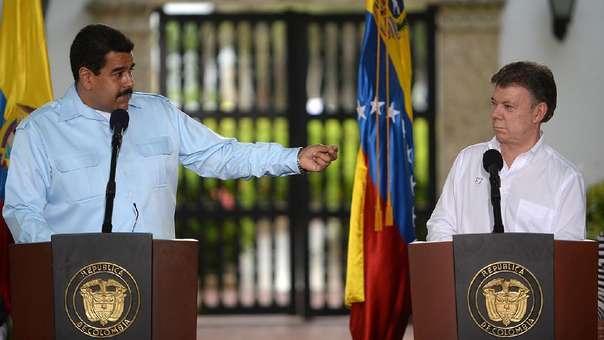 Nicolás Maduro y Juan Manuel Santos durante un encuentro bilateral.